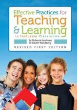 Effective Practices for Teaching and Learning in Inclusive Classrooms by...