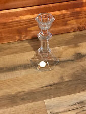 BEAUTIFUL PILLAR CLEAR  CRYSTAL CANDLE HOLDER *MADE IN POLAND* WOW*