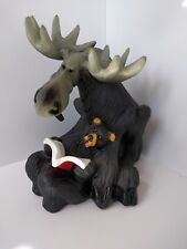 BearFoots Story Time figurine Moose reading bear Jeff Fleming Hard to find 6""
