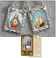 Our Lady of Mt Carmel with Sacred Heart Jesus Christ Scapular with Story Card