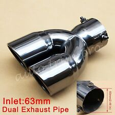 "63mm 2.48"" Caliber Car Rear Muffler Tail Exhaust Universal Pipe End Tip Decorate"
