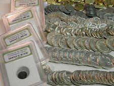HUGE ESTATE LOT (7)GEM BU 90% SILVER COINS 1940-1963+GOLD PROOF ROMAN WWII #25