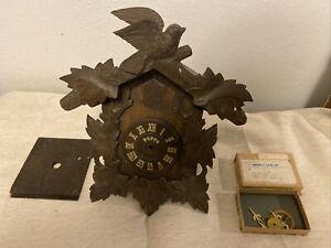Vintage Poppo Tezuka wooden cuckoo clock Japan Parts or Repair