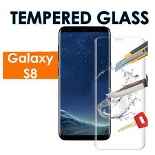100% Genuine 3D Clear Tempered Glass Film Screen Protector For Samsung Galaxy S8