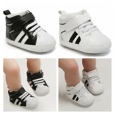 Infant Classic Sneakers Newborn Baby Boy Girl Crib Shoes PreWalker Booties 1 2 3