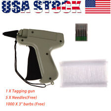 """For Clothes Garment Price Label Tagging Tag Gun 3""""1000 Barbs System + 5 Needles"""