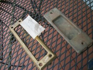 Antique BRASS Door Lock HARDWARE B.L.W. WP 9-3/4 PLATE COVER PULL