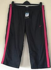Women's Nike Black Mesh Lined M Capri Windbreaker Athletic Pants~NWT MSRP $32.00