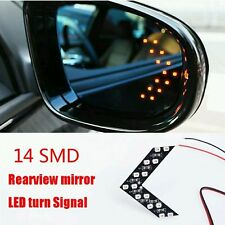 2 Pcs 14SMD LED Arrow For Car side Rear View Mirror Indicator Turn Signal yellow