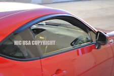 HIC USA FRS BRZ GT86 window visor vent shade rain guards install on OE molding