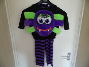 Kids Multicolour 2 Piece Spider Outfit with Eyes and Legs Size 2-3 Years