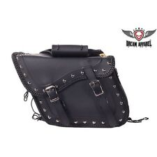"13""  MOTORCYCLE SADDLEBAGS Fits Harley Davidson Sportster Dyna Softail Many More"