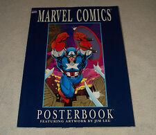 Marvel Comics Posterbook Featuring Artwork by Jim Lee 1991