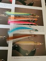 5xULTIMATE size4 BASS SALTWATER  flies MULLET FLY MINNOWS SURF CANDY salmon  NEW