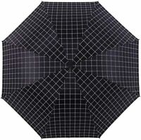 Travel Umbrella Compact 95% UV Protection Windproof Folding Sun Rain Black