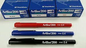 24 EACH X ARTLINE 200 BLACK / BLUE / RED VALUE DEAL