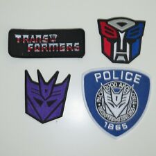 TRANSFORMERS PATCH SET OF (4) PREMIUM QUALITY EMBROIDERED PATCHES