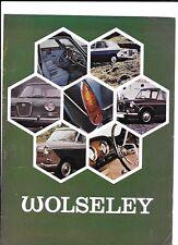 BRITISH LEYLAND WOLSELEY 1300 MkII, 16/60 AND 18/85 MkII SALE BROCHURE 1969 1970