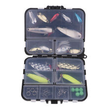 36x Fishing Lure Set Kit Lots Fishing Accessories Baits Hook with Tackle Box