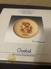 """Vtg 1985 Mj Hummel Goebel """"Chick Girl"""" Collector's Limited 15th Annual Plate"""