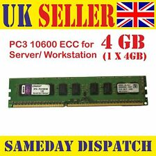 Kingston KTH-PL313E/4G 4GB PC3-10600E 1333MHz CL9 ECC Server DIMM 240-Pin RAM