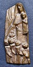 Bronze Reliefbild -Maria m. Kindern-  60/70er Jahre