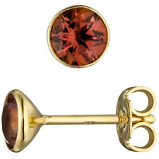 Ohrstecker rund 585 Gold Gelbgold 2 Turmaline rosa Ohrringe Turmalinohrringe