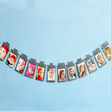 12pcs Creative Baby 1 Year Birthday Paper Photo Frame Wall Hanging Picture Album