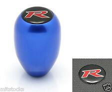 RACING R STYLE EMBLEM MANUAL TRANSMISSION GEAR ANODIZED BLUE SHIFT KNOB TOYOTA