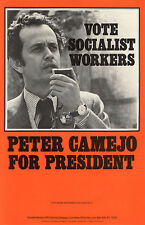 1976 Peter Camejo Socialist Workers Campaign Poster (4538)