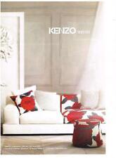 PUBLICITE  ADVERTISING   2008   KENZO  décoration d'intérieur ameublement