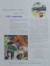 PUBLICITE AUTOMOBILE CADILLAC DUC DE BEDFORD COMTESSE HOWE DE 1929 FRENCH AD PUB