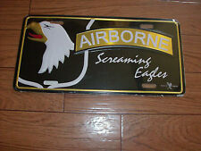 U.S ARMY 101ST AIRBORNE LICENSE PLATE, METAL UNIQUE RAISED LETTER 3D DESIGN.