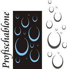 Schablone, Dekorschablone, Wandschablone, Malerschablone, Stencil, Wassertropfen