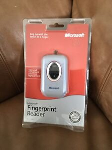 Microsoft Fingerprint Reader USB PC Computer Security Model 1033 Unopened