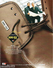 PUBLICITE ADVERTISING 065  2001  GORE-TEX  chaussures homme