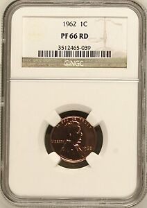 1962 1C RD PROOF Lincoln Memorial One Cent NGC PF66RD        3512465-039