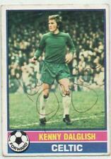 Kenny Dalglish signed 1976 1977 Topps Scottish Yellow Back card #1 Celtic