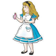 Alice In Wonderland Party Decoration Prop Jointed ALICE 38 inches
