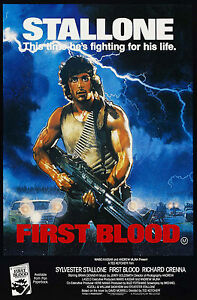 Rambo First Blood  FILM MOVIE METAL TIN SIGN POSTER WALL PLAQUE