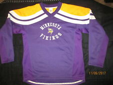 NFL,VIKINGS V-NECK,SHIRT,PULLOVER,YOUTH,L,14-16,QUALITY,SHARP,POLYESTER--MIN