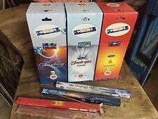 Lote 3 cajas incienso Nag Champa Fantasy, Hari Om y Shashvata, 75 tubos de 10gr