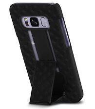Samsung Galaxy S8 Plus Case Slim Kickstand Belt Clip Holster Protective Black