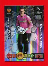 CHAMPIONS LEAGUE 2010-11 Panini 2011 -Card Goal Stopper- CESAR SANCHEZ- VALENCIA