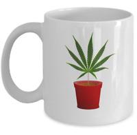 Cannabis coffee mug - Pot of weed - Funny marijuana stoner 420 gift - ganja cup