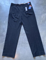 Tommy Bahama Double Pleated Black Silk Dress Pants Mens Sz 34x34 NEW Retail $145
