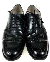 G.H. Bass & Co Nicholas Style Oxford Wingtip Brogue Black Men's Size 10M EUC