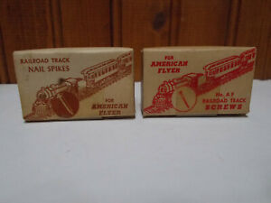 **LAST 2*** rare American Flyer SHARON BOLT track screws spikes in original box