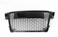 A4 B8 Front Grill Mesh Grille for Audi A4 B8 2009-2012 To RS4 Style Black