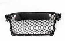 Full Black Honeycomb Mesh Front Grill Grille for Audi A4 B8 S4 RS4 2009-12